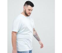Big & Tall - Schmales hellblaues T-Shirt mit Rundhalsausschnitt und kleinem Logo