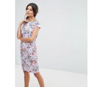 Closet - Kleid mit Blumenmuster und Bindung hinten
