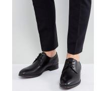 Lauriano - Derby-Schuhe aus schwarzem Leder