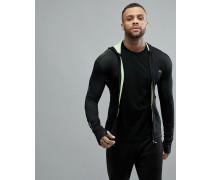 Lacoste - Sport - Sweatjacke mit Reißverschluss in Schwarz