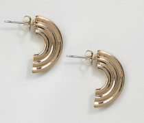Runde Ohrringe mit Röhrendesign