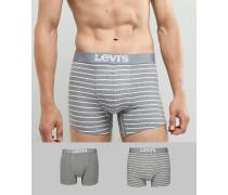 2er-Pack gestreifte Unterhosen mit Vintage-Design