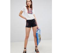 Kenra - Bestickte Shorts