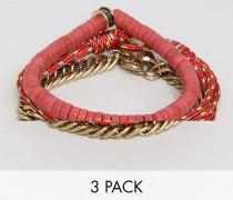 Red Combo - Armbänder im 3er-Pack