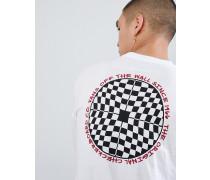 Kariertes langärmliges Hemd im Weiß VA3H77WHT