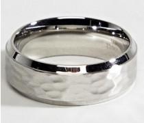Bandring in Silber mit Strukturmuster