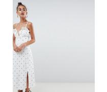 ASOS DESIGN Tall - Midi-Sommerkleid mit Sternemuster und V-Ausschnitt vorn