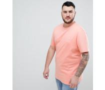 Big & Tall - Schmales T-Shirt in Rosa mit Rundhalsausschnitt und kleinem Logo