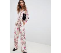 Geblümtes Pyjama-Hemd