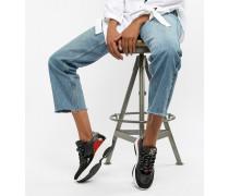 Zela - Sneaker in Schwarz mit Leopardenmuster