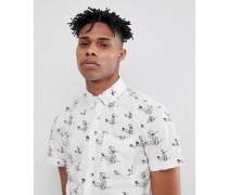 Kurzärmliges Hemd mit Muster