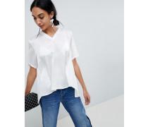 Bluse mit plissierter Rückseite