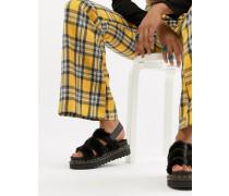 Yelena - Sandalen aus schwarzem Frottee