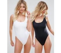 Formender Badeanzug für die größere Brust mit U-Ausschnitt im Multipack DD-G