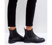 Amina - Chelsea-Stiefel aus schwarzem Leder