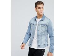 Intelligence - Jeansjacke aus Bio-Baumwolle mit geflickten Rissen