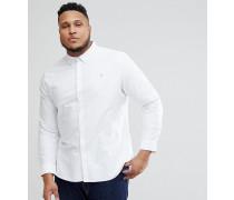 PLUS - Brewer - Schmal geschnittenes Oxford-Hemd in Weiß