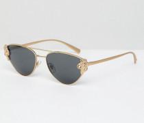 Katzenaugen-Sonnenbrille mit Medusa-Detail