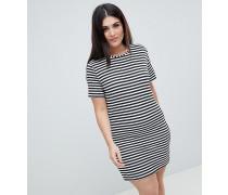 Gestreiftes T-Shirt-Kleid