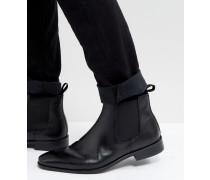 Chelsea-Stiefel aus schwarzem Leder