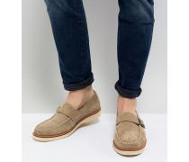 Ramone - Monk-Schuhe aus Wildleder mit dicker Sohle