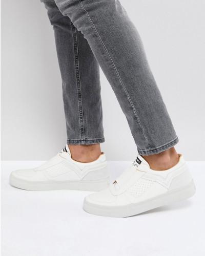 Niedriger Preis Versandgebühr Diesel Herren Sneaker aus Leder mit elastischer Vorderseite Verkauf Footaction Kosten Verkauf Online D69tOjtP