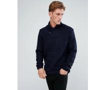 Strukturierter Pullover mit Schalkragen