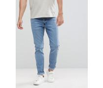 Clark - Schmale helle Retro-Jeans in abgenutzter Optik