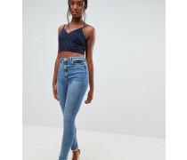 ASOS DESIGN Tall - Ridley - Skinny-Jeans in extremer mittlerer Waschung mit hohem Bund