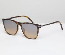 49/S - Eckige Sonnenbrille in Schildpattoptik