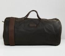 Gewachste Reisetasche in Grün