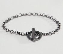 Stahlgraues Kettenarmband