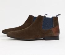 Lowpez - Chelsea-Stiefel aus braunem Wildleder