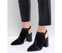 Jasminee Ankle-Boots mit Zierausschnitt und Nieten