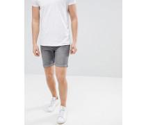 Jeansshorts in verwaschenem Grau