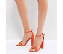 farbene Sandalen mit Blockabsätzen
