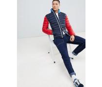 Sports Capsule - Verstaubare gesteppte Daunenjacke mit Farbblockdesign