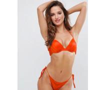 Mix-and-Match - Glamouröses Bikinioberteil mit tiefem Ausschnitt und Raffung