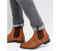 Chelsea-Stiefel aus hellbraunem Leder