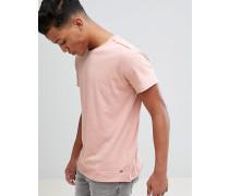 T-Shirt aus genopptem Stoff mit unversäuberten Kanten