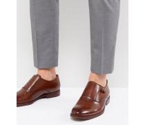 Catallo - Monk-Schuhe aus Leder in Hellbraun