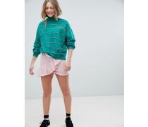 farbener Jeansrock mit Rüschen
