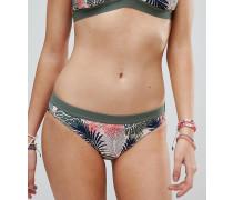 Exklusive Bikinihose mit tropischem Print