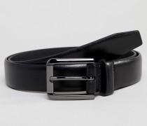 Eleganter schwarzer Kunstledergürtel
