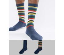 Levi's - Socken mit Pop-Streifenmuster im 2er-Pack