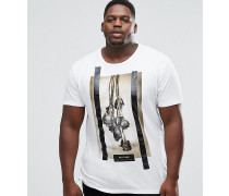 PLUS - T-Shirt mit Rosenprint