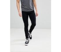 Leroy - Enge schwarze Jeans