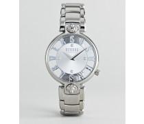 Kirstenhof VP490518 - Armbanduhr in Silber 34 mm