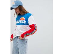Oversize-Sweatshirt mit Logoband in Regenbogenfarben mit Farbblockdesign