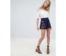 Greeta - Shorts mit Blumenstickerei